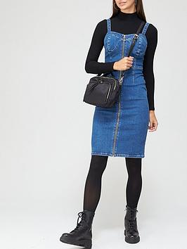 v-by-very-bodycon-zip-through-denim-dress-mid-wash