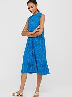 monsoon-tilda-sustainable-spot-tiered-midi-dress-blue