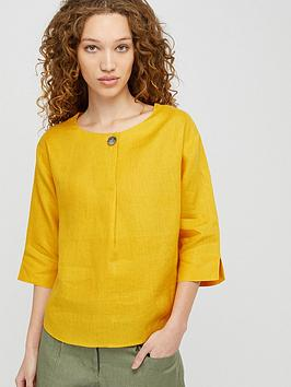 monsoon-scarlet-pure-linen-t-shirt-yellow