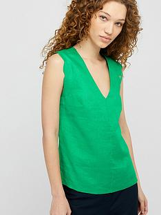 monsoon-lotus-pure-linen-scallop-edge-tank-top-green