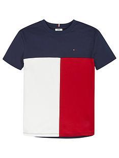 tommy-hilfiger-boys-short-sleeve-colourblock-t-shirt-navy