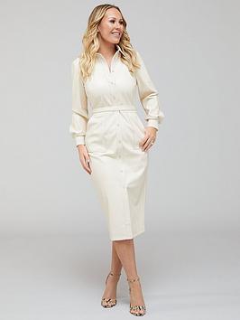 kate-ferdinand-pu-shirt-midi-dress-cream
