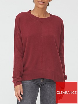 v-by-very-super-softnbspdip-hem-seam-front-supersoft-jumper-plum
