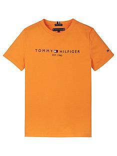 tommy-hilfiger-boys-short-sleeve-essential-logo-t-shirt-orange
