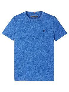tommy-hilfiger-boys-short-sleeve-essential-flag-marl-t-shirt-blue