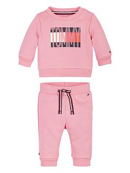 tommy hilfiger baby girls flag tracksuit outfit