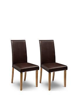 julian-bowen-pair-of-hudson-fuax-leathernbspdining-chairs-brown