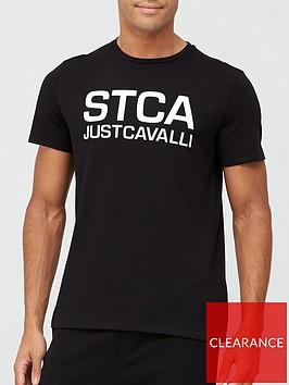 just-cavalli-stca-logo-print-t-shirt-black