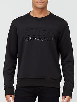 just-cavalli-stca-logo-embossed-logo-sweatshirt-black