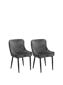 julian-bowen-pair-of-luxe-velvet-dining-chairs-grey