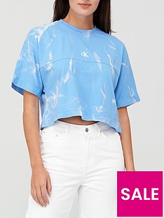 calvin-klein-jeans-lava-dye-cropped-tee-blue