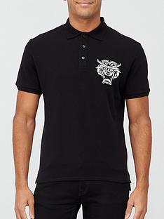 just-cavalli-animal-logo-polo-shirt-black