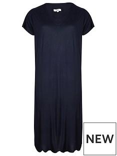 evans-flutter-sleeve-long-nightdress-navy