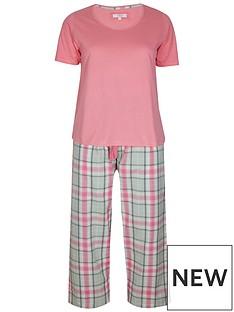evans-check-pant-pyjama-set-pink