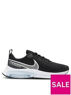 nike-air-zoom-arcadia-junior-running-trainer-blackwhitegrey