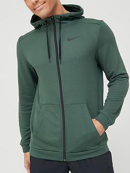 nike-training-dry-full-zip-fleece-hoodie-green