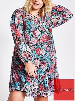 ri-plus-floral-ruffle-swing-dress-blue