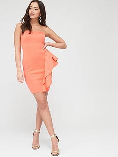 river-island-bandeau-bodycon-mini-dress-coral
