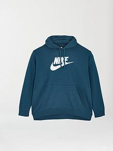 nike-nsw-club-plus-size-pullover-hoodie-green