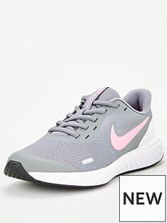 nike-revolution-5-junior-trainer-grey-pink-white