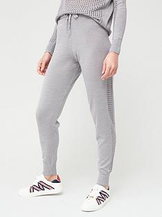 river-island-metallic-mesh-co-ord-knitted-jogger-silver