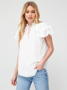 river-island-dobby-shell-blouse-ivory