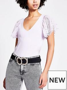 river-island-mesh-frill-sleeve-t-shirt-lilac