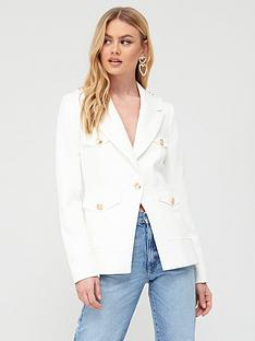river-island-military-button-blazer-white