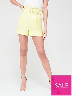 river-island-corset-belted-short-yellow