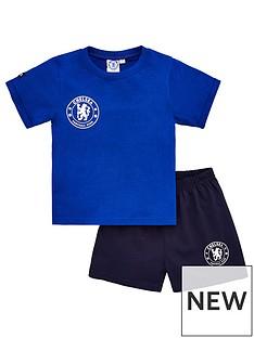chelsea-boys-footballnbspshortienbsppyjamas-blue