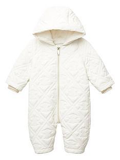 river-island-baby-ri-embosssed-quilted-snowsuit-cream
