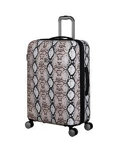 it-luggage-sheen-snake-print-medium-case