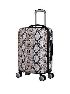 it-luggage-sheen-snake-print-cabin-case