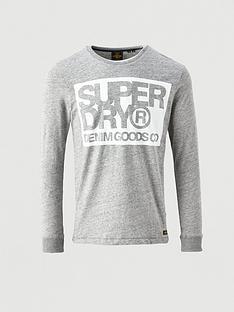 superdry-denim-goods-co-print-long-sleeve-tee-dark-grey