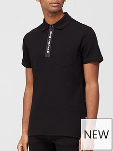 versace-jeans-couture-logo-zip-collar-polo-t-shirt-black