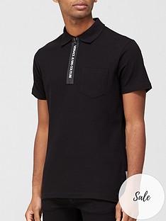 versace-jeans-couture-logo-zip-collar-polo-t-shirt-black