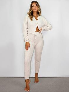 missguided-missguided-soft-touch-knitted-joggers-cream