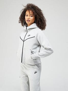 Nike Nsw Tech Fleece Full Zip Hoodie - Dark Grey Heather