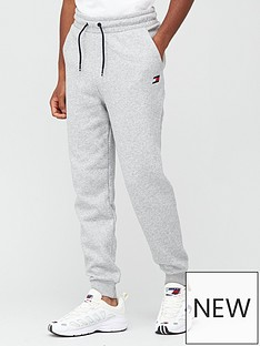 tommy-sport-cuffed-regular-fleece-pants-grey
