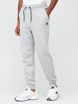 tommy-sport-cuffed-regular-fleece-pants-grey
