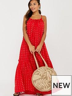 accessorize-cottonnbspmaxi-dress-red