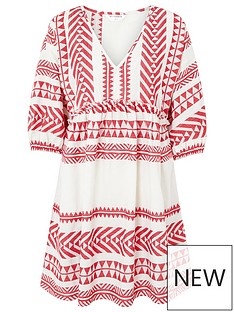 accessorize-long-sleeved-jacquard-dress--red