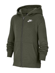 nike-older-boys-full-zip-club-hoodie-khaki