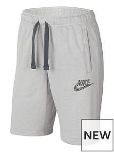 nike-older-fleece-zero-short-white