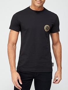 versace-jeans-couture-small-chest-logo-t-shirt-black