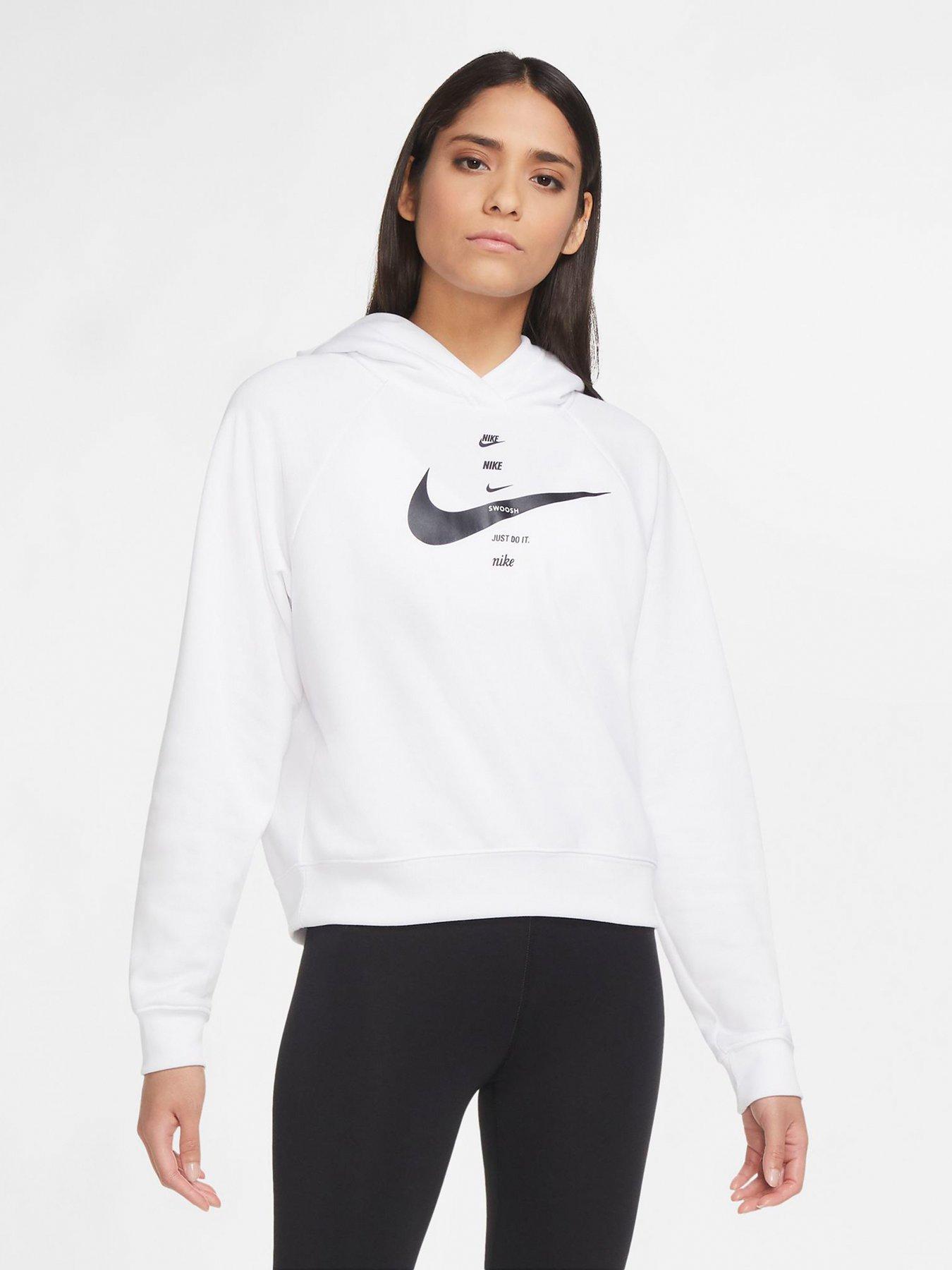 Nike NSW Swoosh Pullover Hoodie - White