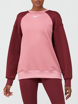 nike-training-thermal-colourblock-sweatshirt-pinknbsp