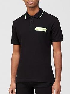 versace-jeans-couture-neon-chest-logo-polo-shirt-black