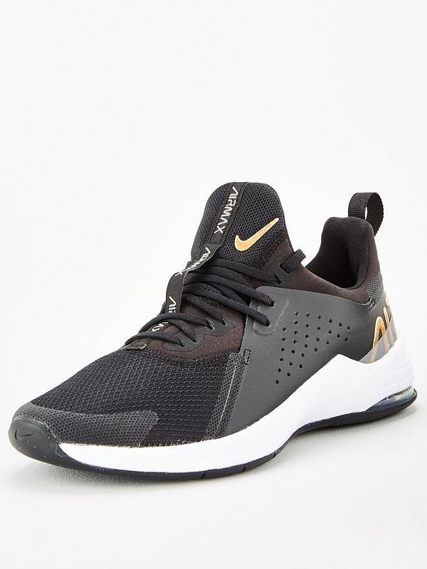 Fragante Escrupuloso capoc  Nike Air Max Bella TR 3 - Black/Gold | very.co.uk