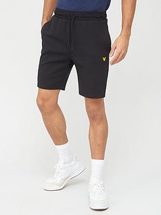 lyle-scott-fitness-tech-fleece-shorts-black